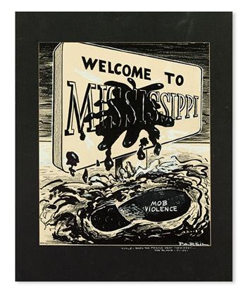 (CIVIL RIGHTS.) MISSISSIPPI. Welcome to Mississippi. Mob Violence