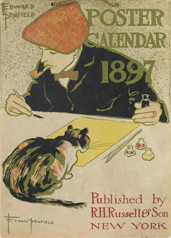 EDWARD PENFIELD (1866-1925). POSTER CALENDAR 1897. Complete calendar. 1896. 14x10 inches, 36x26 cm. R.H. Russell & Son, New York.