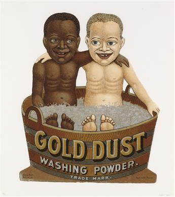 HANK WILLIS THOMAS (1976 -  ) Gold Dust Tub.