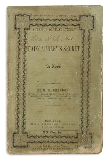 BRADDON, M[ARY] E[LIZABETH]. Lady Audleys Secret.