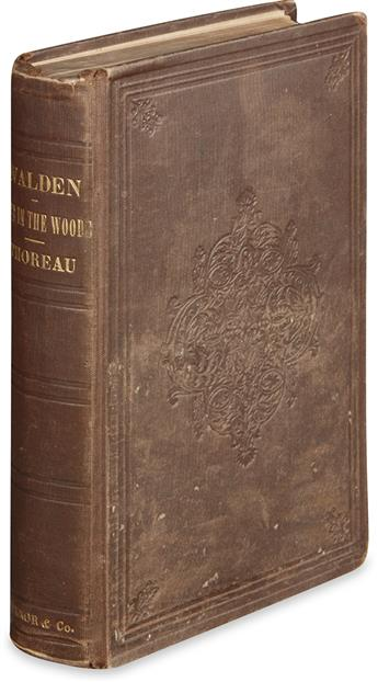 THOREAU, HENRY DAVID. Walden; or, Life in the Woods.