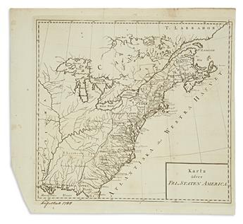 (UNITED STATES.) Karta Öfver Fri-Staten America.