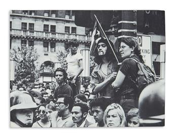 (YOUNG LORDS.) Pair of mounted photographs of the Young Lords.