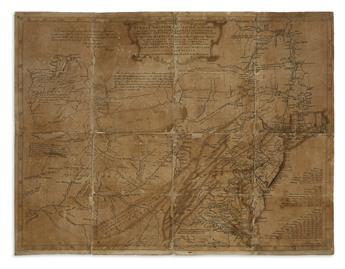 EVANS, LEWIS. A General Map of the Middle British Colonies, in America; viz Virginia, Mariland, Delaware Pensilvania,