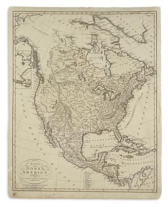(AMERICA.) Åkerland, E. Karta Öfver Norra America.