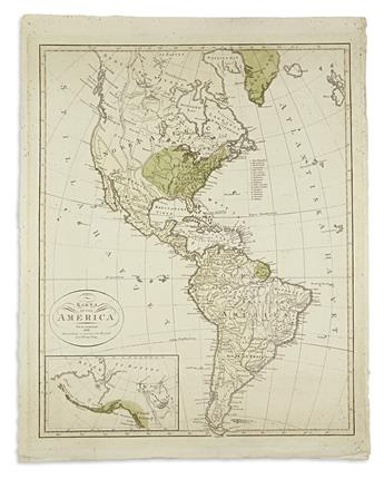 (AMERICA.) Åkerland, E. Karta Öfver America.