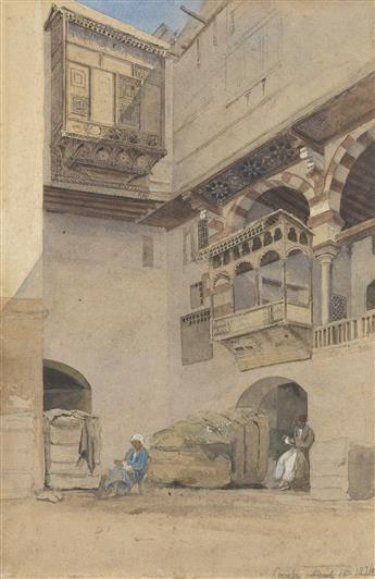 EDWIN LORD WEEKS Courtyard of Cotton Storehouse, Cairo.