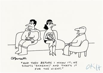 CHARLES BARSOTTI. And then before I know it, he shouts SHAZAM! and thats it for the night. * Oh, I can still fly OK. What I said