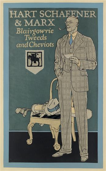 DESIGNER UNKNOWN. HART SCHAFFNER & MARX / BLAIRGOWRIE TWEEDS AND CHEVIOTS. 1926. 33x21 inches, 83x53 cm.