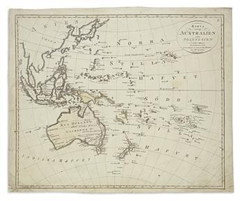 (OCEANIA.) Åkerland, E. Karta Öfver Australien eller Polynesien.