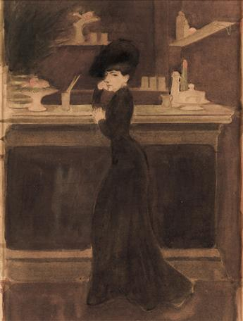 GEORGES BOTTINI (Paris 1874-1907 Paris) A Woman at a Bar.