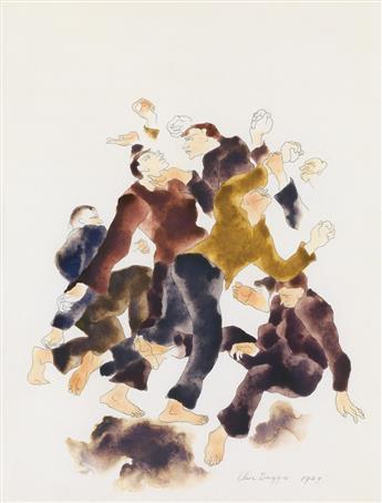 ELSIE DRIGGS Figures Fighting (The Mob).