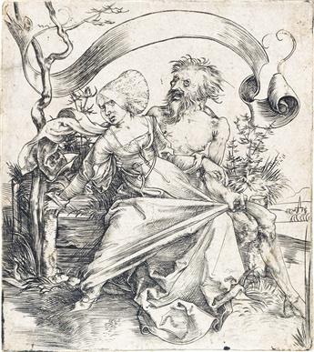 ALBRECHT DÜRER The Ravisher, or a Young Woman Attacked by Death.