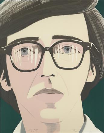ALEX KATZ Portrait of a Poet: Kenneth Koch.