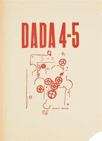 FRANCIS PICABIA (1879-1953). DADA 4 - 5 / RÉVEIL MATIN. 1919. 10x7 inches, 26x19 cm.