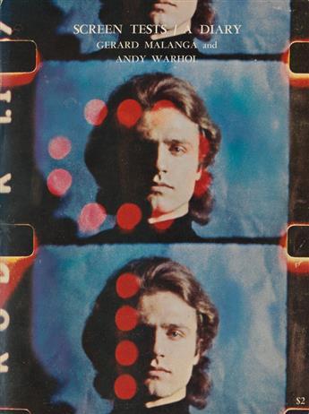 WARHOL, ANDY; and GERARD MALANGA / CONTEMPORARY ART. Screen Tests / A Diary.