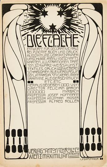 VARIOUS ARTISTS. DIE FLÄCHE. Complete volume of 12, 16-page fascicules. 1903-4. 12x8 inches, 31x21 cm. Schroll u. Co., Vienna.