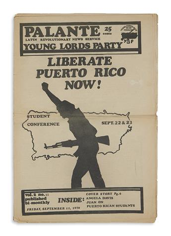(YOUNG LORDS.) Group of newspapers relating to Puerto Ricans from the Young Lords and beyond.