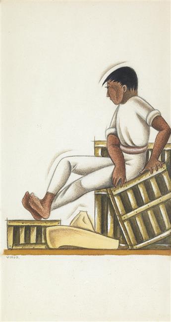 EMILIO BAZ VIAUD Hombre Balanceándose en la Caja.