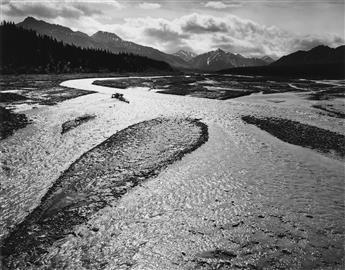 ANSEL ADAMS (1902-1984) Teklanika River, Mount McKinley National Park, Alaska.