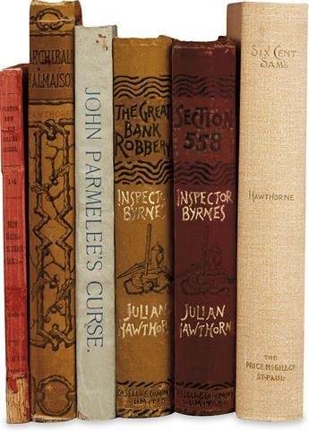 HAWTHORNE, JULIAN. Group of 6 First Editions.
