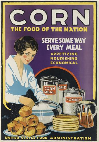 LLOYD HARRISON (DATES UNKNONW). CORN / UNITED STATES FOOD ADMINISTRATION. Two posters. 1918. Each approximately 30x20 inches, 76x50 cm.
