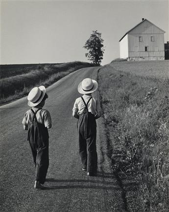 GEORGE A. TICE (1938- ) Two Amish Boys, Lancaster, PA.
