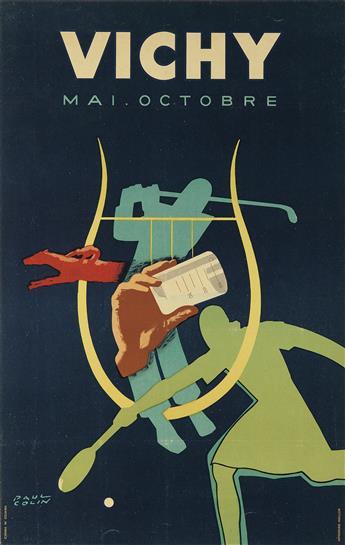 PAUL COLIN (1892-1986). VICHY / MAI - OCTOBRE. 1948. 38x24 inches, 98x63 cm. Wallon, [St. Yorre.]
