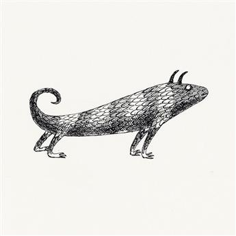 EDWARD GOREY. Group of 10 smaller illustrations from The Monster Den.