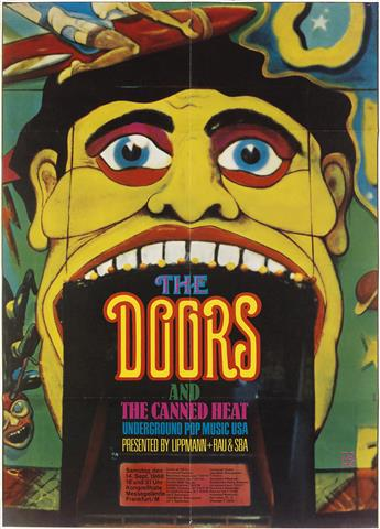 GÜNTHER KIESER (1930- ). THE DOORS AND THE CANNED HEAT. 1968. 32x23 inches, 83x59 cm.