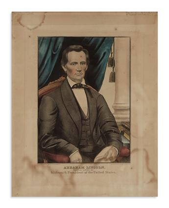 (PRINTS--1860 CAMPAIGN.) Abraham Lincoln, Republican Candidate for Sixteenth President of the United States.