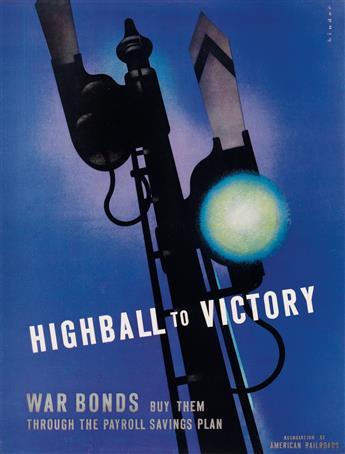 JOSEPH BINDER (1898-1972). HIGHBALL TO VICTORY. 1952. 18x13 inches, 46x35 cm.
