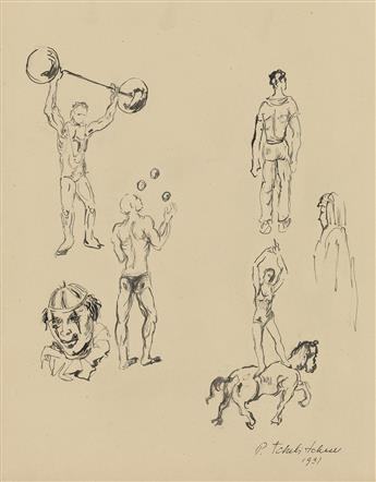 PAVEL TCHELITCHEW Studies of Circus Performers.