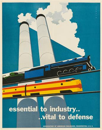 JOSEPH BINDER (1898-1972). ESSENTIAL TO INDUSTRY . . . . VITAL TO DEFENSE. 1952. 17x14 inches, 44x35 cm.
