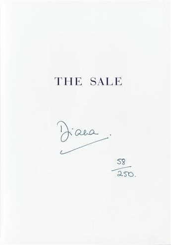 DIANA; PRINCESS OF WALES. Dresses from the Collection of Diana, Princess of Wales. Signed, Diana, on the half-title.