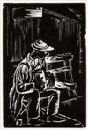 HALE WOODRUFF (1900 - 1980) Blind Musician.