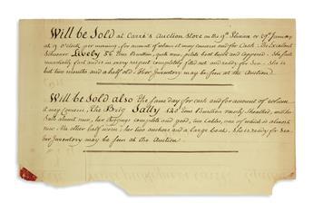 (HAITI.) Records of trade between Virginia and Haiti, kept by ship captain Christopher Tompkins.