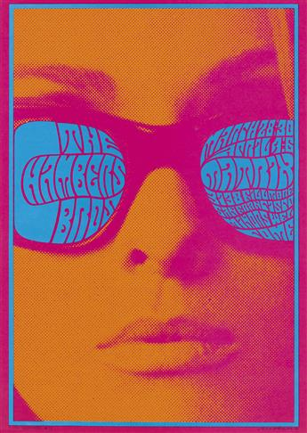 VICTOR MOSCOSO (1936- ). [AVALON BALLROOM / MATRIX.] Group of 3 posters. 1967. Sizes vary, each approximately 20x14 inches, 50x36 cm.