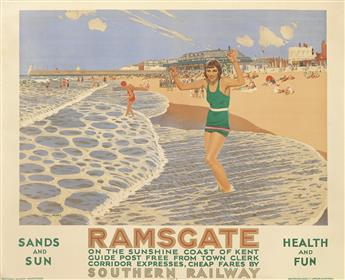 CHARLES PEARS (1873-1958). RAMSGATE. 1926. 40x49 inches, 101x124 cm. Waterlow & Sons, London.