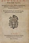NOSTRADAMUS, MICHEL DE.  1559  Almanach Pour lan 1560.
