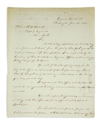 (MEXICAN WAR.) Official correspondence of Captain Christopher Quarles Tompkins.