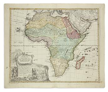 HOMANN HEIRS. 6 hand-colored engraved maps.