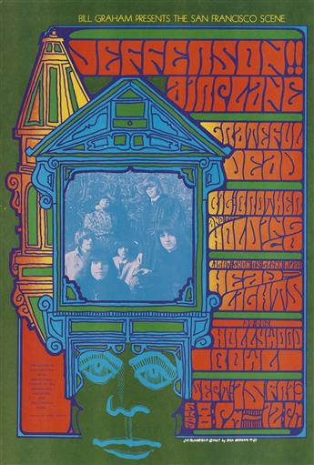 VARIOUS ARTISTS. [PSYCHEDELIC CONCERTS.] Group of 7 posters. 1967-1969. Sizes vary.