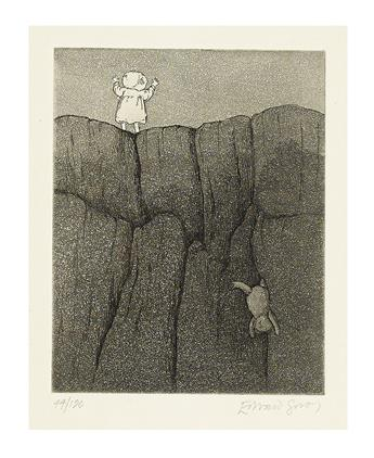 GOREY, EDWARD. Malocclusion (Teddy Bear on a Cliff).