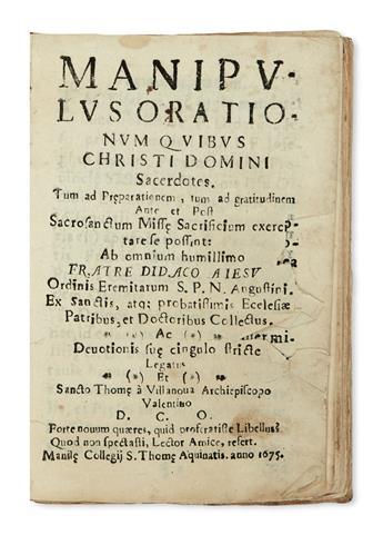 PHILIPPINES  JESÚS, DIEGO DE. Manipulus orationum. 1675
