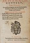 NOSTRADAMUS, MICHEL DE.  1561  Almanach Nouveau, Pour lAn.1562.