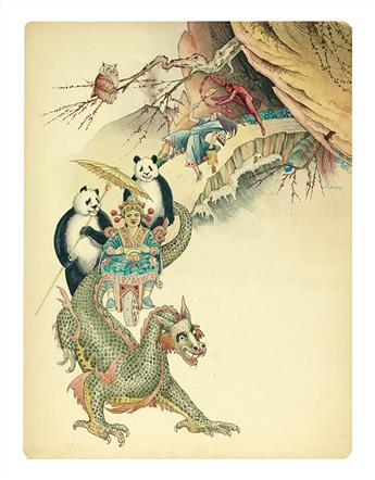 B. BORSOS. Edwardian Forest Scene * Chinese fantasy scene.