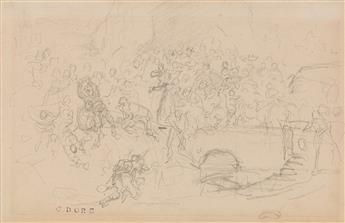 GUSTAVE DORÉ (Strasbourg 1832-1883 Paris) Study for a Biblical Scene.