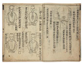 (MEDICINE.) Japanese woodblock manual on Chinese medicine.
