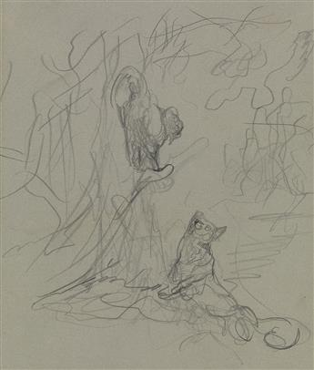 GUSTAVE DORÉ (Strasbourg 1832-1883 Paris) Study for The Crow and the Fox.